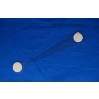 Wobbler 326, 151 mm, 400 micron, schuimklever, per 100 stuks