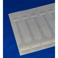 Wobbler 326SB, 150 mm, 400 micron, schuimklever, Smal BULK 5.000 stuks