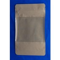 Doypack Stazak Papier met groot Venster en Zipper
