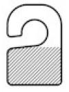 Hangtab haakmodel met kleefstrook