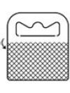 Hangtab voor enkele en dubbele ophangpennen