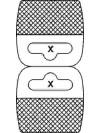 Dubbele Hangup met Flexibele kleefstrook