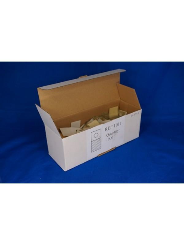 Hangtab met ophanggaatje,100 x 10 in een doosje