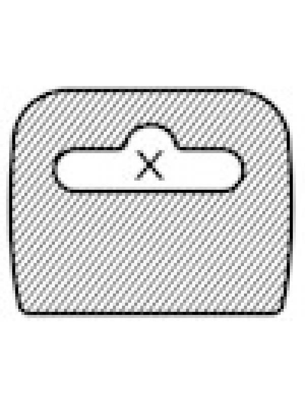 Hangtab welke volledig belijmd is voor reparatie van verpakkignen