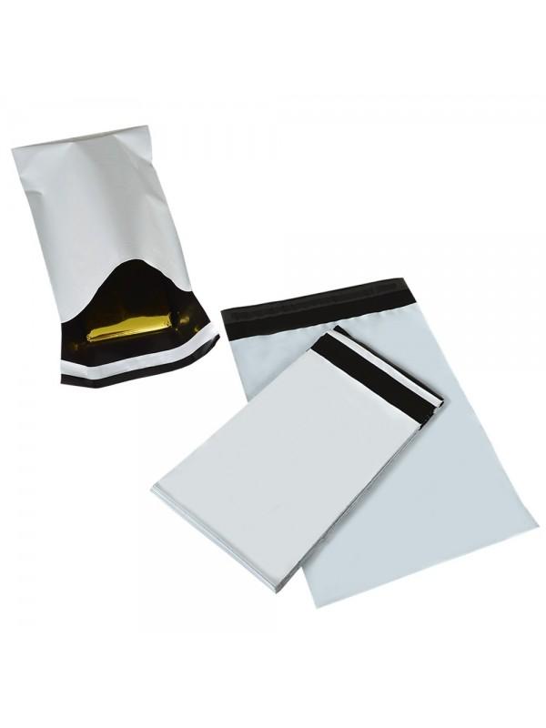 Verzendzakken Wit met zwarte binnenkant