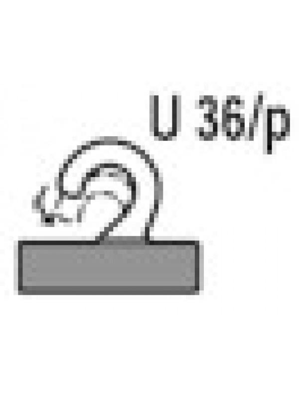 Zelfklevende haak U 36/p